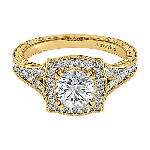Gabriel - 18k Yellow Gold Victorian Engagement Ring