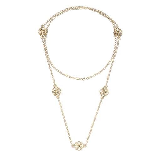 18k Yellow Gold Endless Diamonds Diamond By The Yard Necklace angle 2