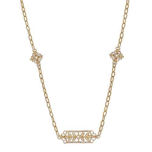 Gabriel - 18k Yellow Gold Endless Diamonds Station Necklace