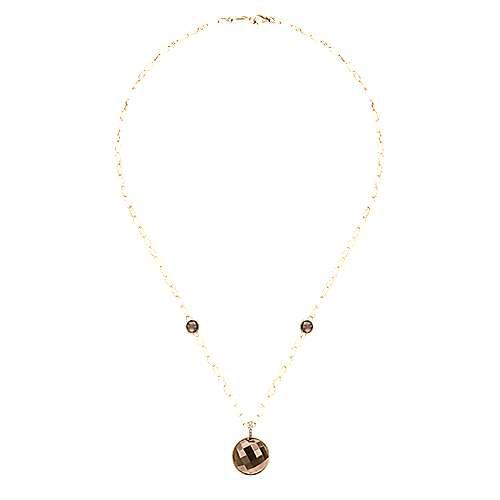18k Yellow Gold Endless Diamonds Station Necklace angle 2