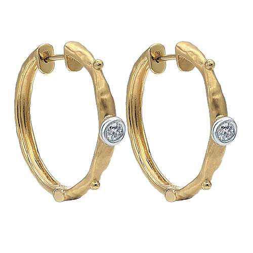 Gabriel - 18k Yellow Gold Hoops Classic Hoop Earrings