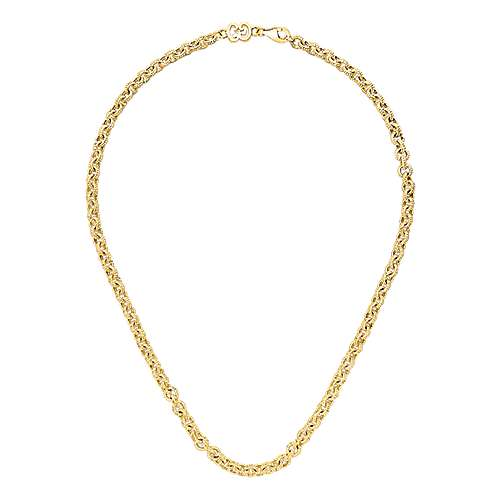 18k Yellow Gold Infinite Gems Chain Necklace angle 2