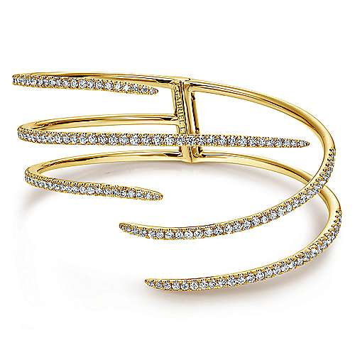 18k Yellow Gold Kaslique Bangle angle 1
