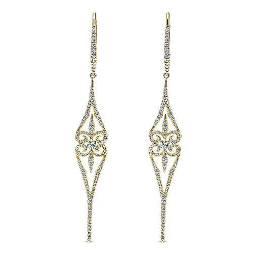 Gabriel - 18k Yellow Gold Kaslique Drop Earrings