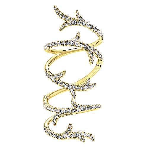 Gabriel - 18k Yellow Gold Kaslique Fashion Ladies' Ring