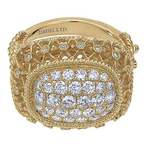 Gabriel - 18k Yellow Gold Mediterranean Fashion Ladies' Ring