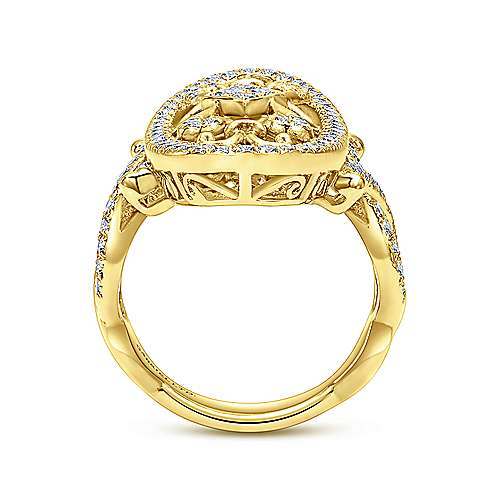 18k Yellow Gold Mediterranean Fashion Ladies