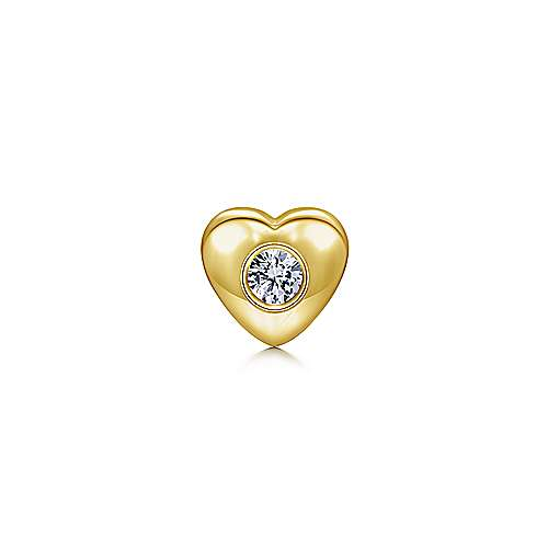 18k Yellow Gold Treasure Chests Locket Charm Pendant angle 1