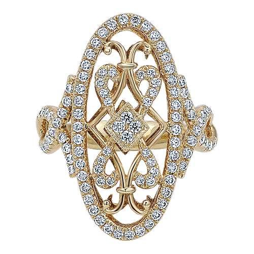 18k Yellow Gold Victorian Fashion Ladies' Ring