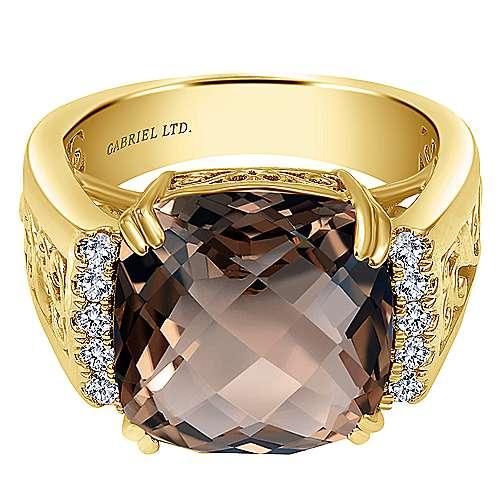 18k Yellow Gold Victorian Fashion Ladies' Ring angle 1