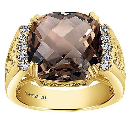 18k Yellow Gold Victorian Fashion Ladies' Ring angle 4