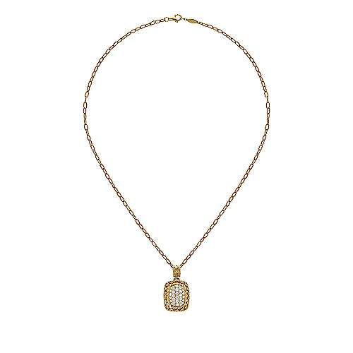 18k Yellow Gold Victorian Fashion Necklace angle 2