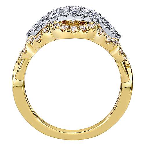 18k Yellow/white Gold Diamond Fashion Ladies