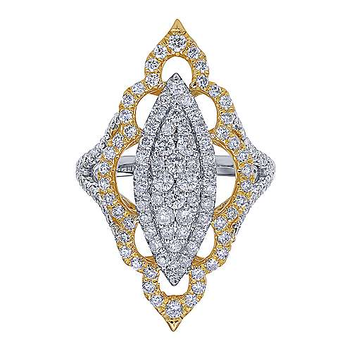 18k Yellow/white Gold Diamond Statement Ladies