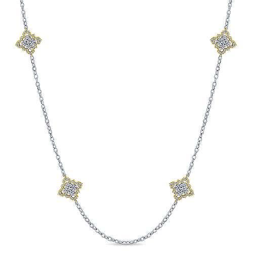 18k Yellow/white Gold  Diamond By The Yard