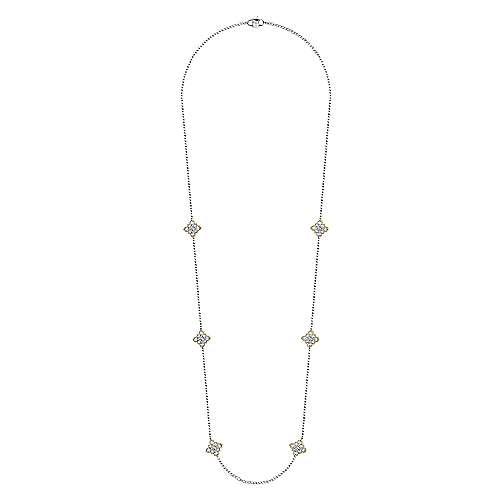 18k Yellow/white Gold Endless Diamonds Diamond By The Yard Necklace angle 2