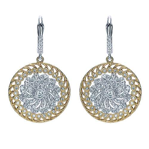 Gabriel - 18k Yellow/white Gold Mediterranean Drop Earrings