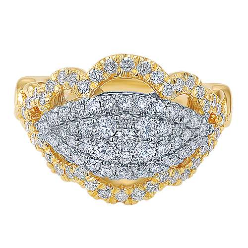 Gabriel - 18k Yellow/white Gold Mediterranean Fashion Ladies' Ring