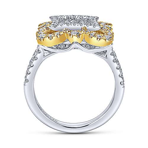 18k Yellow/white Gold Mediterranean Fashion Ladies