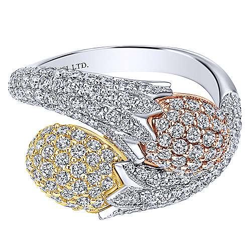 Gabriel - 18k Yellow/white/pink Gold Silk Fashion Ladies' Ring