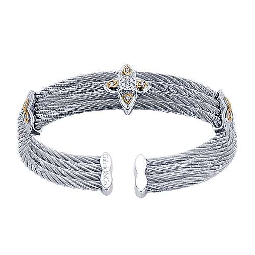 Gabriel - 3 Or More Metals Mixed Steel My Heart Bangle