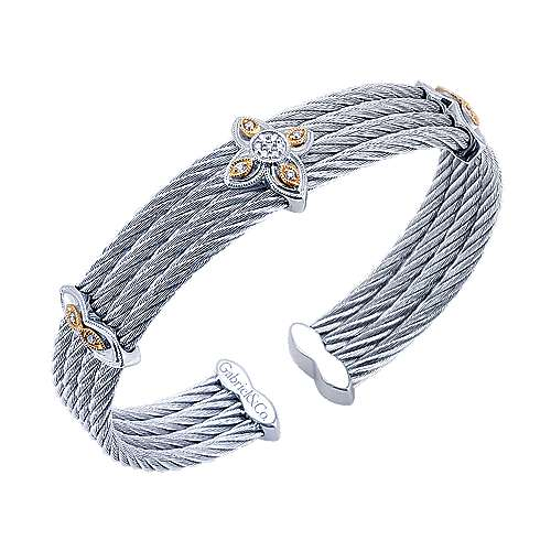 3 Or More Metals Mixed Steel My Heart Bangle angle 2