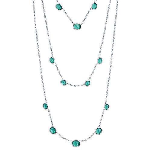 32inch Silver Fashion Necklace