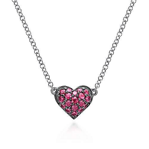 Gabriel - 925 Silver Eternal Love Heart Necklace
