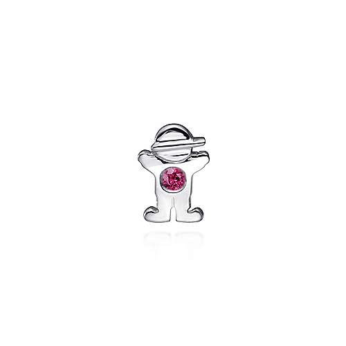 925 Silver  And Ruby Locket Charm