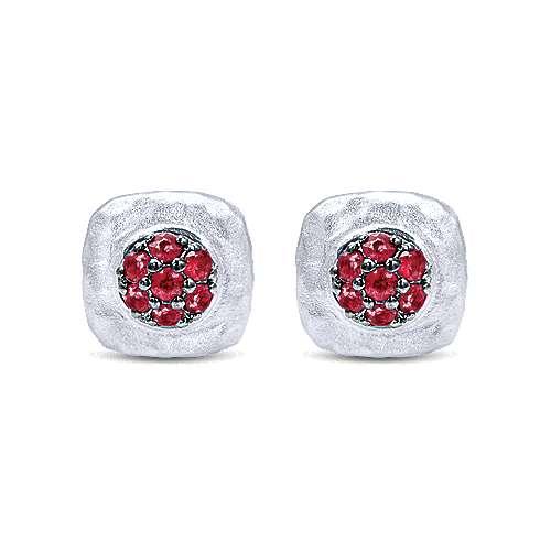 Gabriel - 925 Silver Souviens Stud Earrings