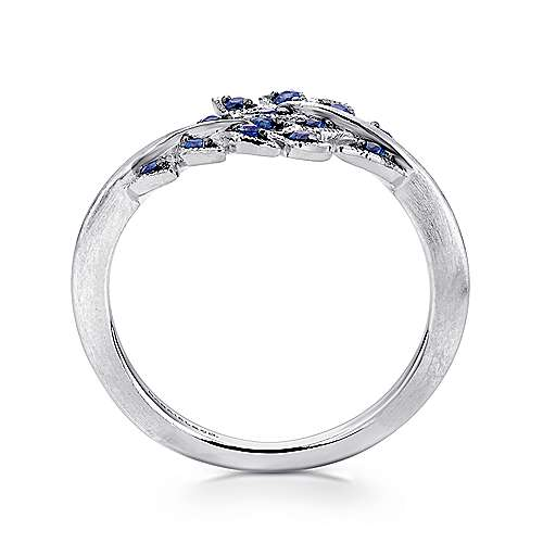 925 Silver  And Sapphire Fashion Ladies