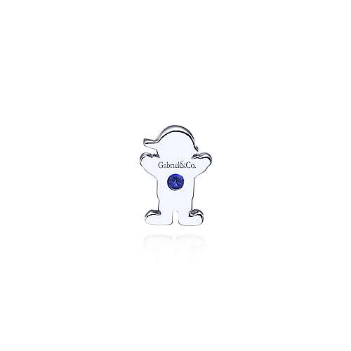 925 Silver  And Sapphire Locket Charm Pendant angle 2