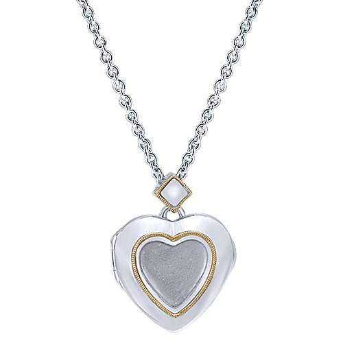 Gabriel - 925 Silver/18k Yellow Gold Treasure Chests Heart Necklace