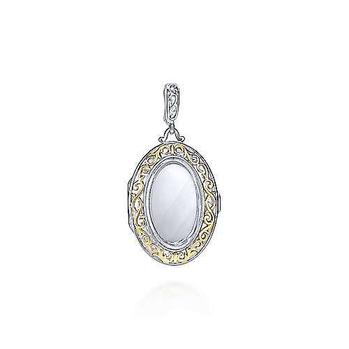 Gabriel - 925 Silver/18k Yellow Gold Treasure Chests Locket Pendant