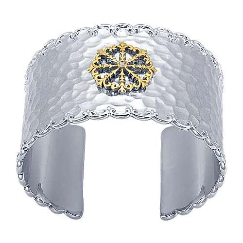 Gabriel - 925 Silver/18k Yellow Gold Goddess Cuff Bangle