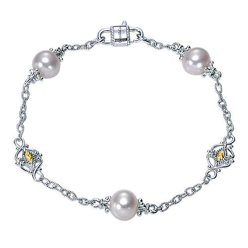 Gabriel - 925 Silver/18k Yellow Gold Infinite Gems Chain Bracelet