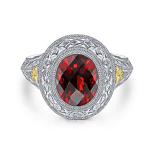 Gabriel - 925 Silver/18k Yellow Gold Mediterranean Fashion Ladies' Ring
