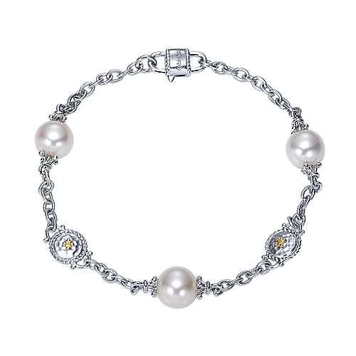 Gabriel - 925 Silver/18k Yellow Gold Infinite Gems Chain Bracelet