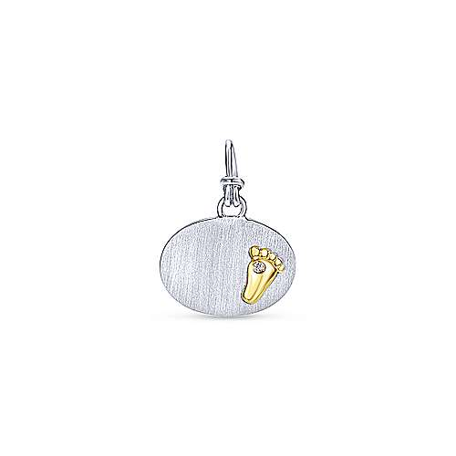 Gabriel - 925 Silver/18k Yellow Gold Treasure Chests Charm Pendant