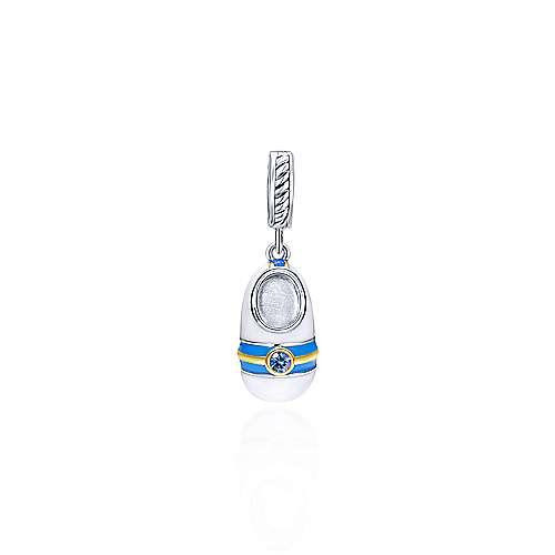 Gabriel - 925 Silver/18k Yellow Gold Treasure Chests Charm Pendant