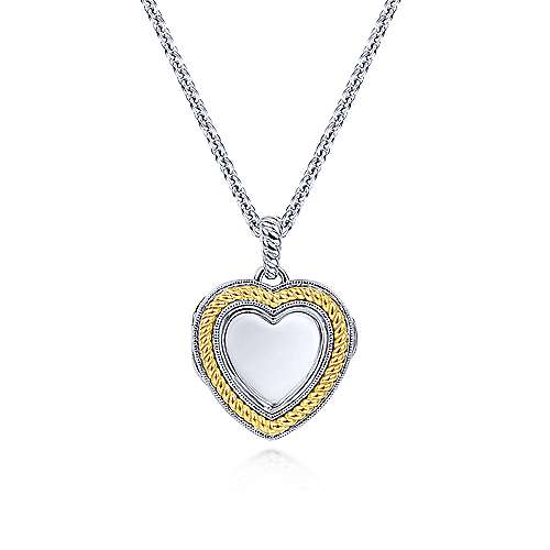 Gabriel - 925 Silver/18k Yellow Gold Treasure Chests Locket Necklace