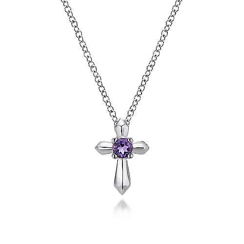 925 Silver Amethyst Cross
