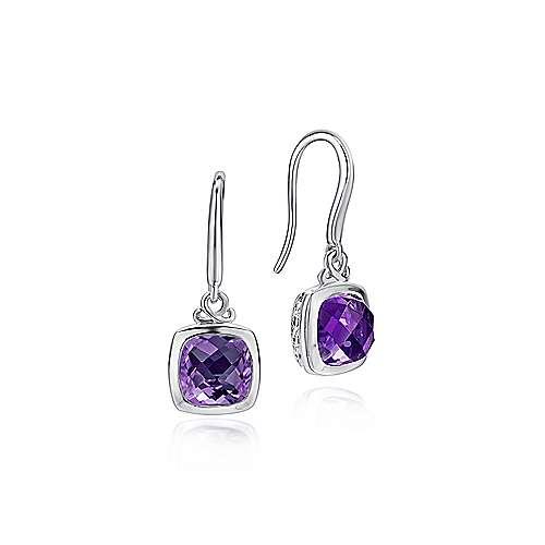 925 Silver Amethyst Earring