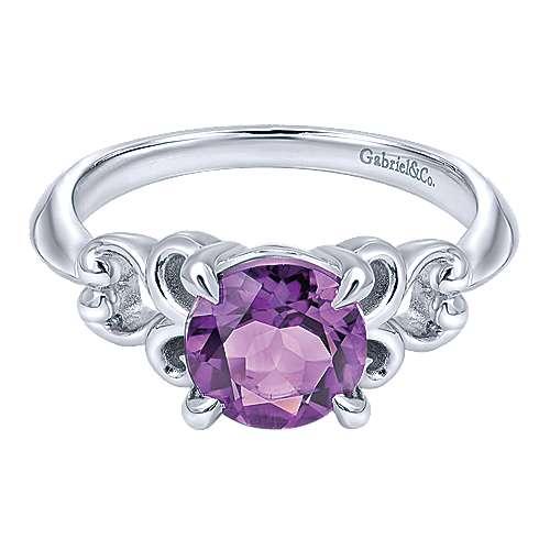 Gabriel - 925 Silver Color Solitaire Fashion Ladies' Ring