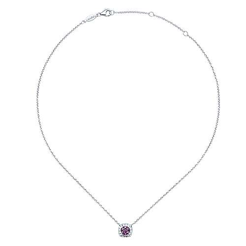 925 Silver Amethyst Fashion Necklace angle 2