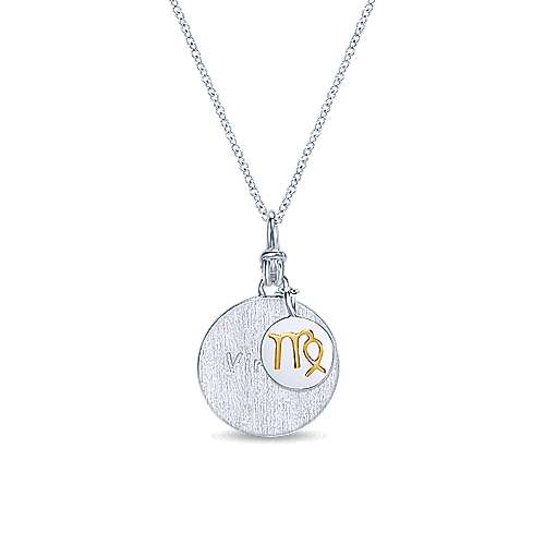 925 Silver And 18k Yellow Gold Contemporary Zodiac Necklace