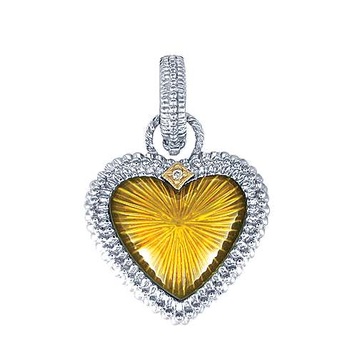 925 Silver And 18k Yellow Gold Eternal Love Charm Pendant angle 1
