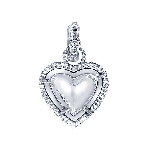 925 Silver And 18k Yellow Gold Eternal Love Charm Pendant angle 2