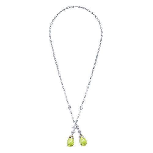 925 Silver And 18k Yellow Gold Infinite Gems Lariat Necklace angle 2