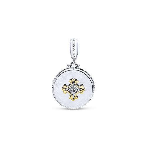 925 Silver And 18k Yellow Gold Roman Fashion Pendant angle 1